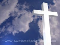 bright white cross - powerpoint background