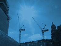 construction industry cranes - powerpoint backgrounds