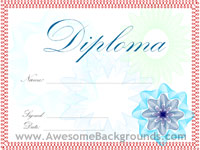 diploma certificate - powerpoint backgrounds