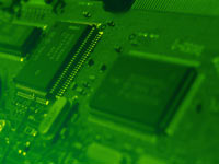 eletronics industry circuit board - powerpoint backgrounds