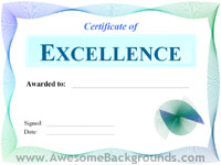 excellence certificate - powerpoint backgrounds