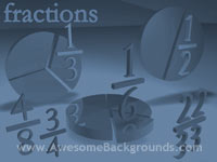 fractions - powerpoint backgrounds
