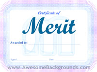 merit certificate - powerpoint backgrounds