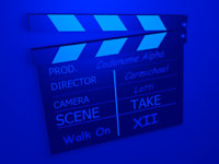 movie clapper board - powerpoint backgrounds
