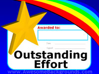 outstanding effort certificate - powerpoint backgrounds