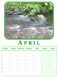 powerpoint calendar April