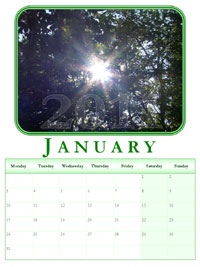 powerpoint calendar January