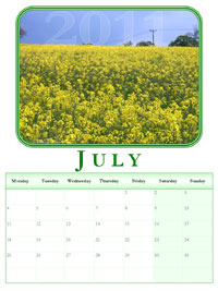 powerpoint calendar July
