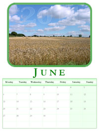 powerpoint calendar June