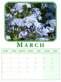 powerpoint calendar March