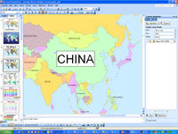 editable country names - powerpoint maps