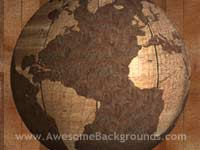 rusty old world globe - globe powerpoint backgrounds