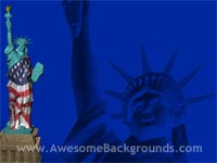 statue of liberty - powerpoint backgrounds