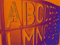 alphabet stencil abc english - powerpoint backgrounds