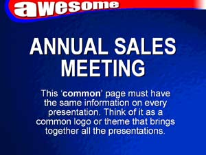 example common page - Annual Sales Meeting