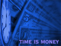 time is money - powerpoint template