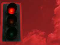 traffic light red - power point templates