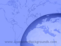 world globe - powerpoint backgrounds