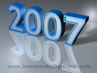 year 2007 - powerpoint backgrounds