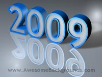 year 2009 - powerpoint backgrounds