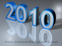 year 2010 - powerpoint backgrounds